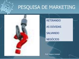 Pesquisa de Mercado 1