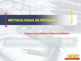 metodologias de pesquisa