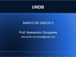 Banco de Dados II – aulas bloco 3