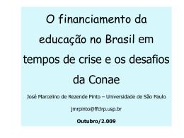 Educação Pública e os Efeitos da Crise Econômica Mundial
