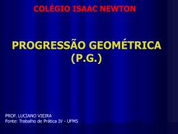 Slides Progressões PG - Professor Luciano Vieira