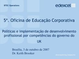 Políticas e Implementação de Desenvolvimento Profissional por