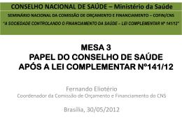 Fernando Elioterio - Conselho Nacional de Saúde