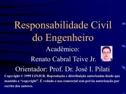 Responsabilidade Civil do Engenheiro - BuscaLegis