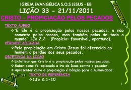 21/11/2011 cristo – propiciação pelos pecados