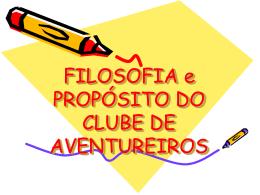 FILOSOFIA DO CLUBE DE AVENTUREIROS