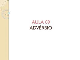 AULA 09 - ADVÉRBIO