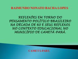 reflexões em torno do pensamento político brasileiro na