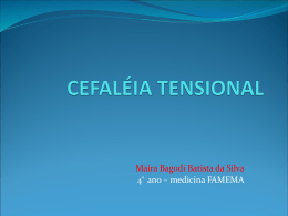 CEFALEIA TIPO-TENSIONAL