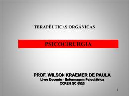 Psicocirurgia - Wilson Kraemer de Paula