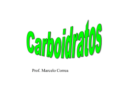 caroboidratos