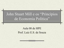 """John Stuart Mill e os """"Princípios de Economia Política"""""""