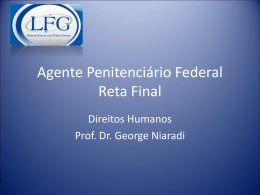 Agente Penitenciário Federal Reta Final