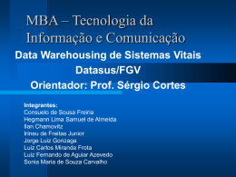Projeto Final: Data Warehouse