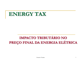 ENERGY TAX 2008 – Encargos Setoriais