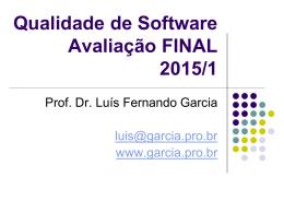 Definição Seminário 2 – FINAL - Prof. Dr. Luis Fernando Garcia