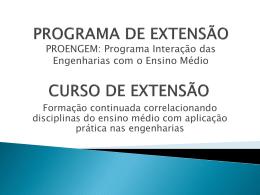 Programa Interação das Engenharias com o Ensino