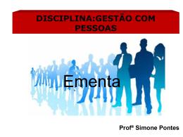 disciplina:gestão com pessoas