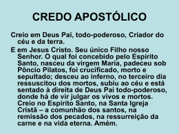 CREDO APOSTÓLICO - Global Training Resources