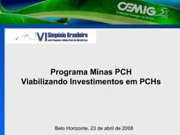 Programa Minas PCH Evolução