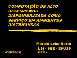 COMPUTAÇÃO DE ALTO DESEMPENHO DISPONIBILIZADA