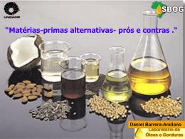 Alternativas para a produção de Gorduras modificadas