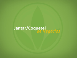Jantar/Coquetel de Negócios