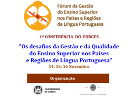 Ensino Superior - 1.ª Conferência
