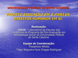 universidade federal de santa catarina projeto educação