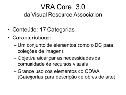VRA Core 3.0 by Visual Resource Association