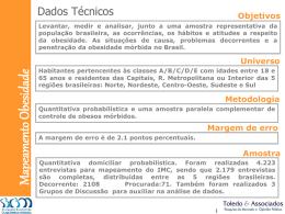 Pesquisa sobre Obesidade no Brasil em 2007 - gastro