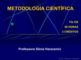 metodologia científica - Pós-Graduação em ENGENHARIA DE