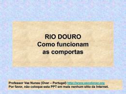 Uma comporta do rio Douro