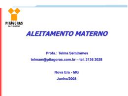 aleitamento - Escola Novaerense