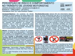 PERCEPÇÃO DE RISCO E COMPORTAMENTO NO