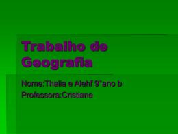 Trabalho de Geografia_thalia_9_b