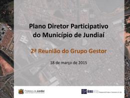 Conteúdo apresentado - Plano Diretor Participativo