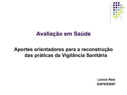 Ministério da Saúde Secretaria de Vigilância Sanitária