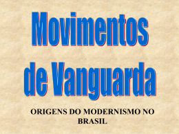 origens do Modernismo
