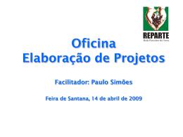 OFICINA DE ELABORAÇÃO , CAPTAÇÃO E PRESTAÇãO