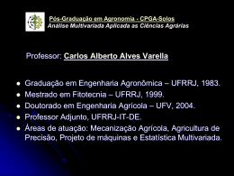 Análise Multivariada Aplicada a Ciências Agrárias