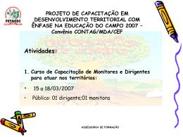 Projeto de Capacitação em Desenvolvimento Territorial