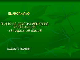 SERVIÇOS DE SAÚDE I
