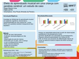 Efeito do aprendizado musical em uma criança com