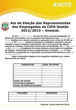 Gestão 2012/2013 (MURAL)
