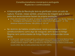 Constitucionalismo monárquico português