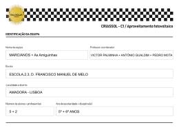 criassol C1 ESc DFranciscoManuelMelo2ºciclo
