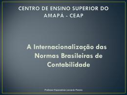A Internacionalização das Normas Brasileiras de Contabilidade