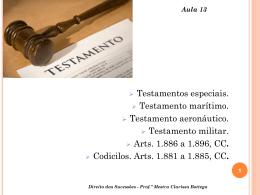 Aula 13 - Professora Mestra Clarissa Bottega