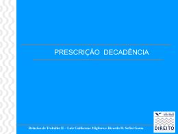 Prescrição - Acadêmico de Direito da FGV
